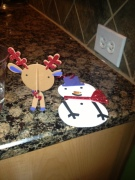 Two of the Christmas Ornaments I helped the kids make at church